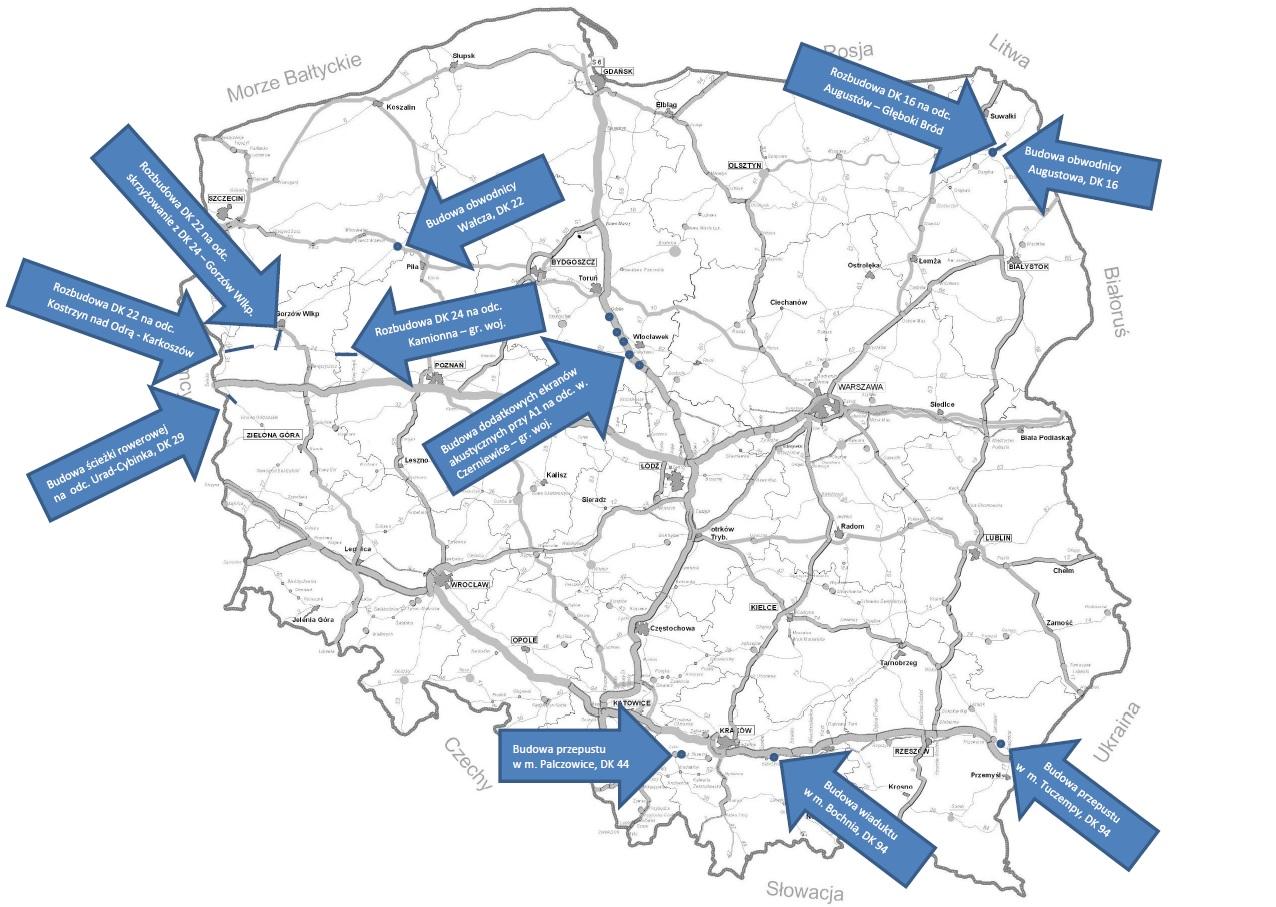 11 drogowych projektów pochłonie blisko 800 mln zł (fot. MI)
