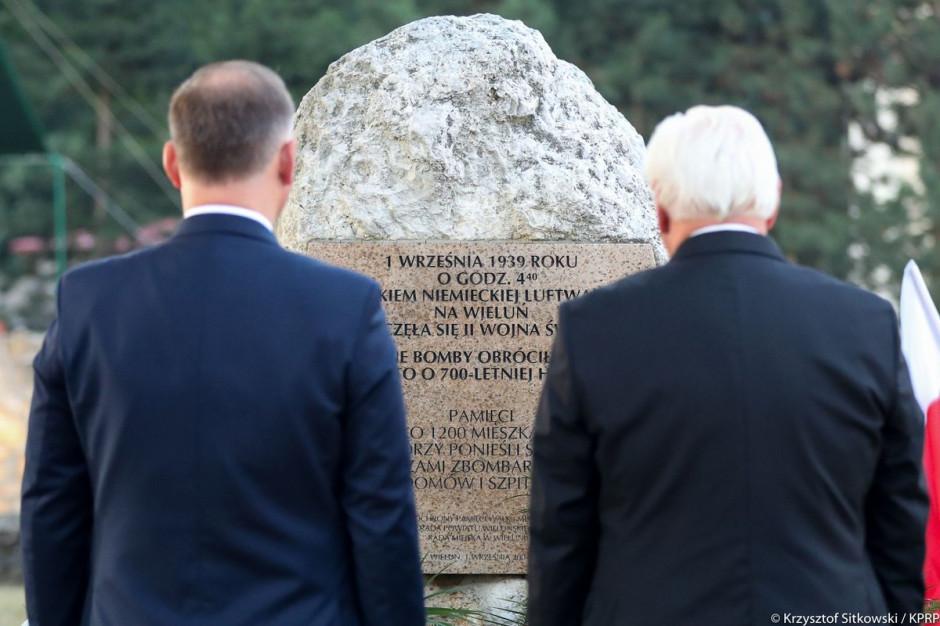 Prezydenci Polski i Niemiec uczcili w Wieluniu pamięć ofiar II wojny światowej