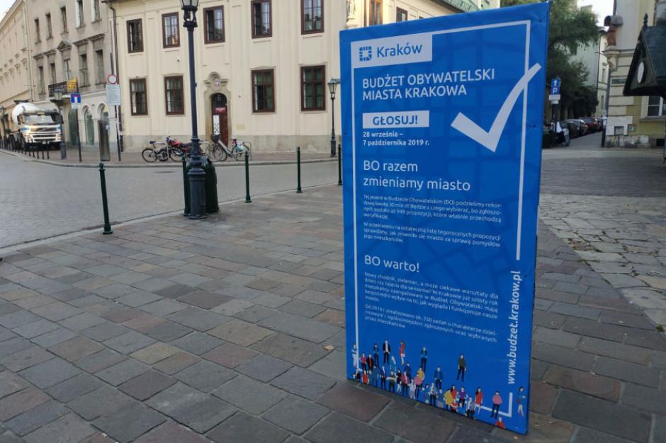 Jest ostateczna liczba projektów w budżecie obywatelskim Krakowa