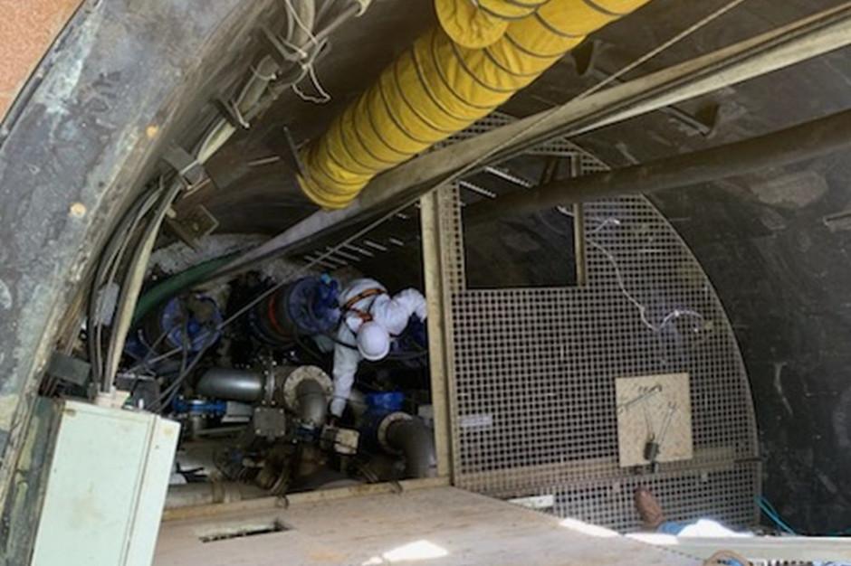 Wodociągi Jaworzno rozpoczęły spawanie zbiornika w przepompowni ścieków