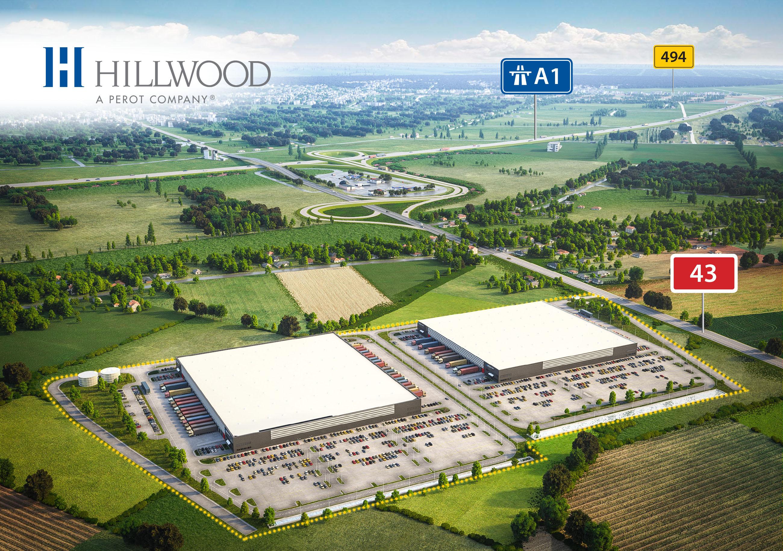Firma Hillwood buduje na terenie gminy Kłobuck 57 tys. mkw powierzchni magazynowych. Obecnie gotowy jest jeden z dwóch budynków (fot. mat. pras.)