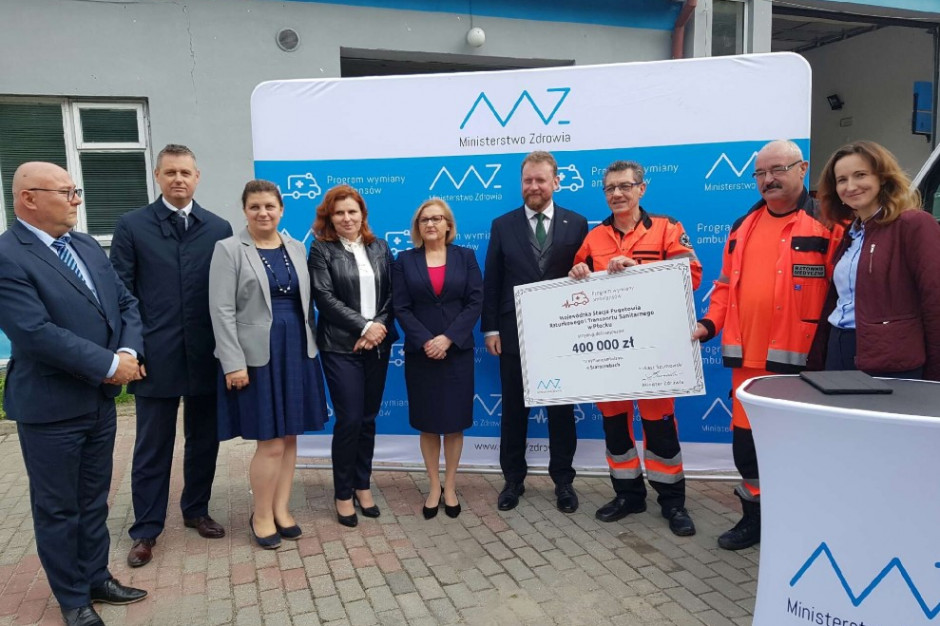 80 mln zł dofinansowania na 200 nowych ambulansów w całej Polsce