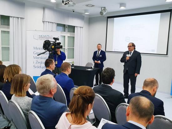 Marek Gróbarczyk, Minister Gospodarki Morskiej i Żeglugi Śródlądowej otwiera Szczecińską konferencję