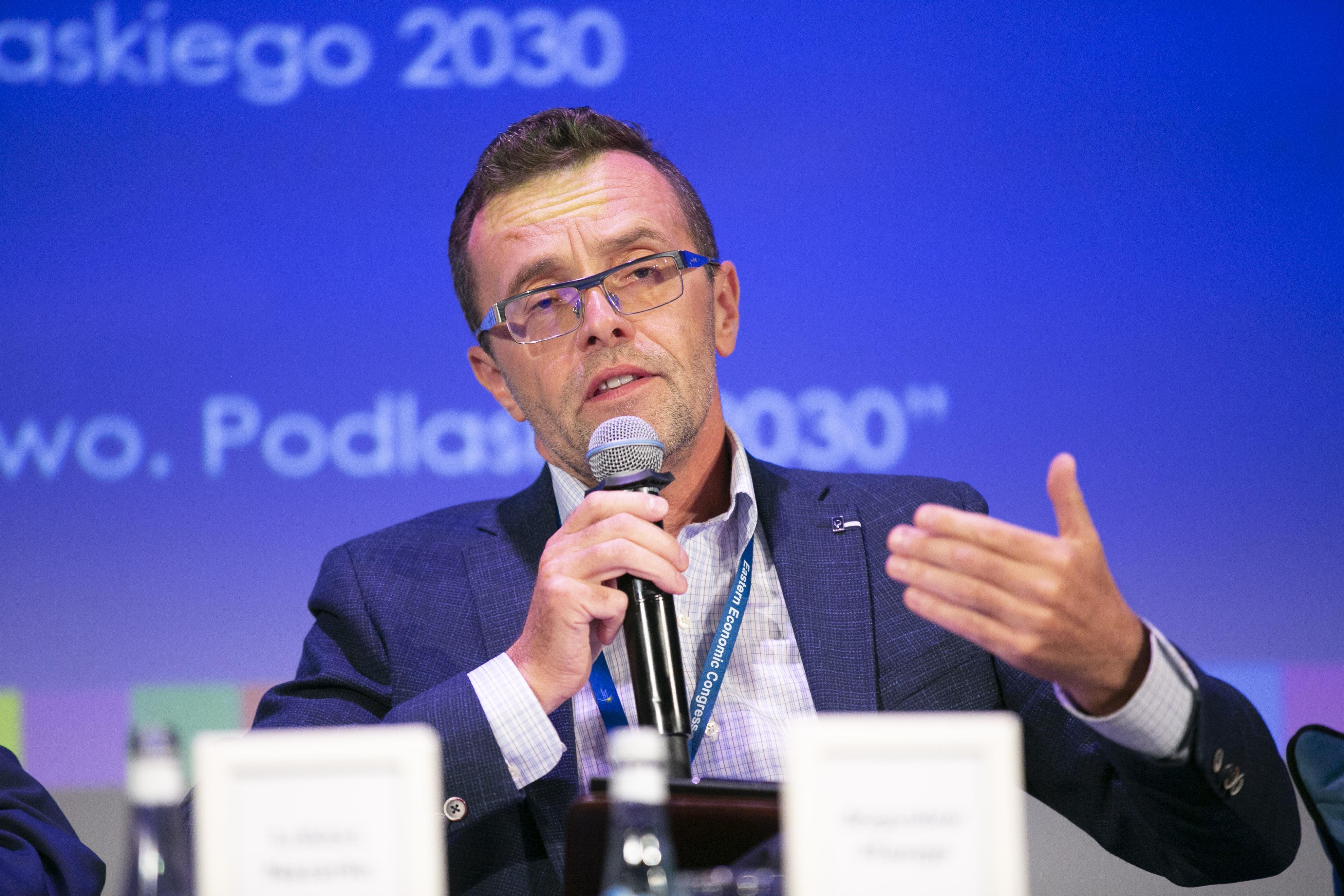 Bogusław Plawgo, kierownik Zakładu Podstaw i Strategii Zarządzania Uniwersytetu w Białymstoku. Fot. PTWP