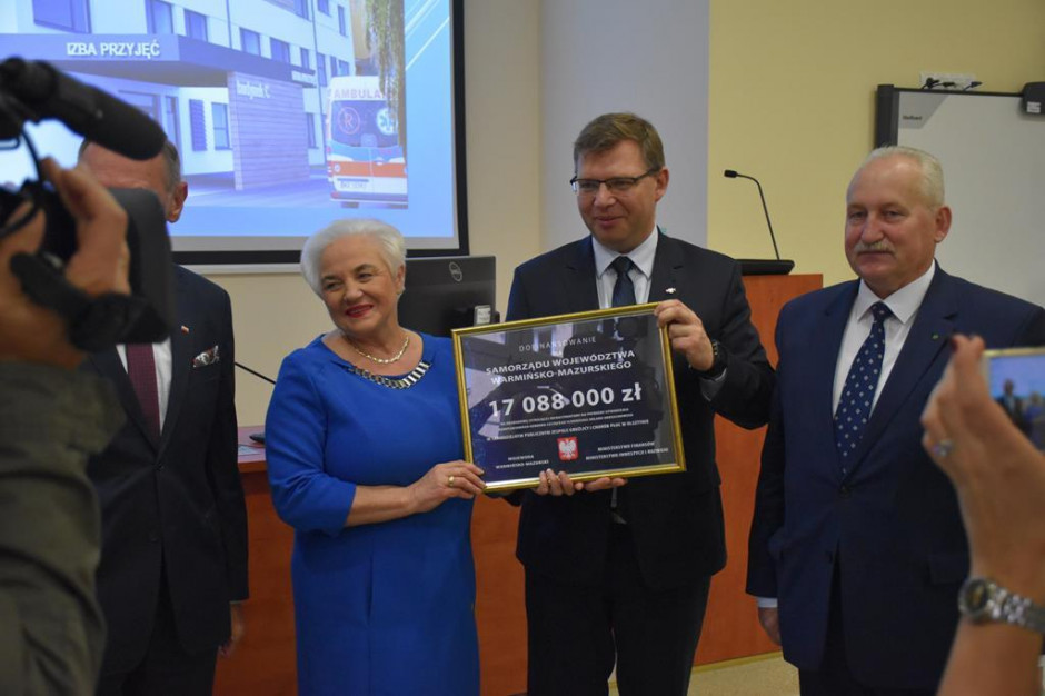 Rząd wyłożył 17 mln zł. Powstanie Centrum Pulmonologii i Torakochirurgii w Olsztynie