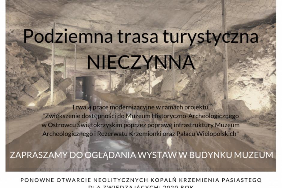 Świętokrzyskie: modernizacja podziemnej trasy w Krzemionkach.  Turyści nie wejdą