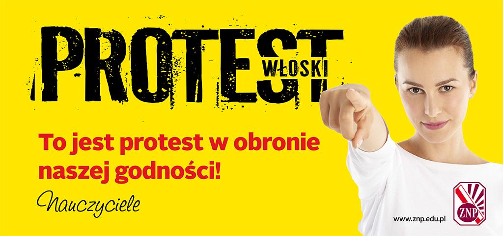 Pod takim hasłem nauczyciele z ZNP zamierzają obecnie protestować (fot.mat.pras.)