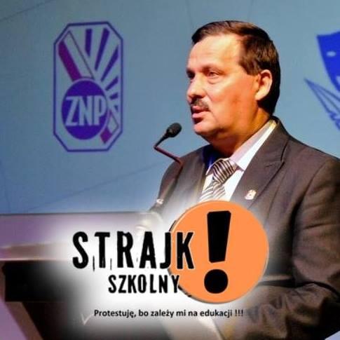 Arkadiusz Boroń - prezes małopolskiego ZNP (fot. Arkadiusz Boroń Facebook)
