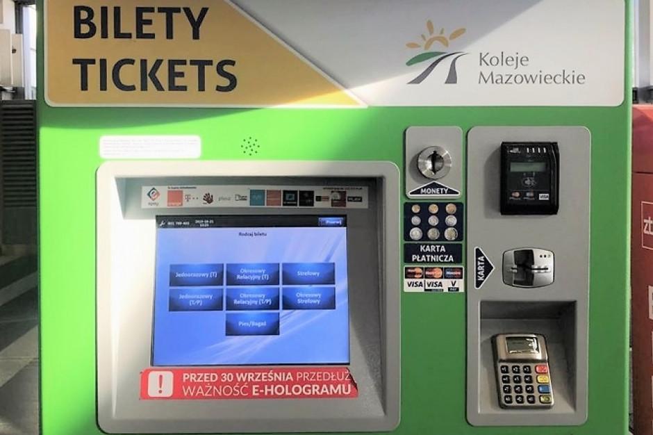 Łatwiejsze podróżowanie Kolejami Mazowieckimi. Przewoźnik inwestuje w biletomaty