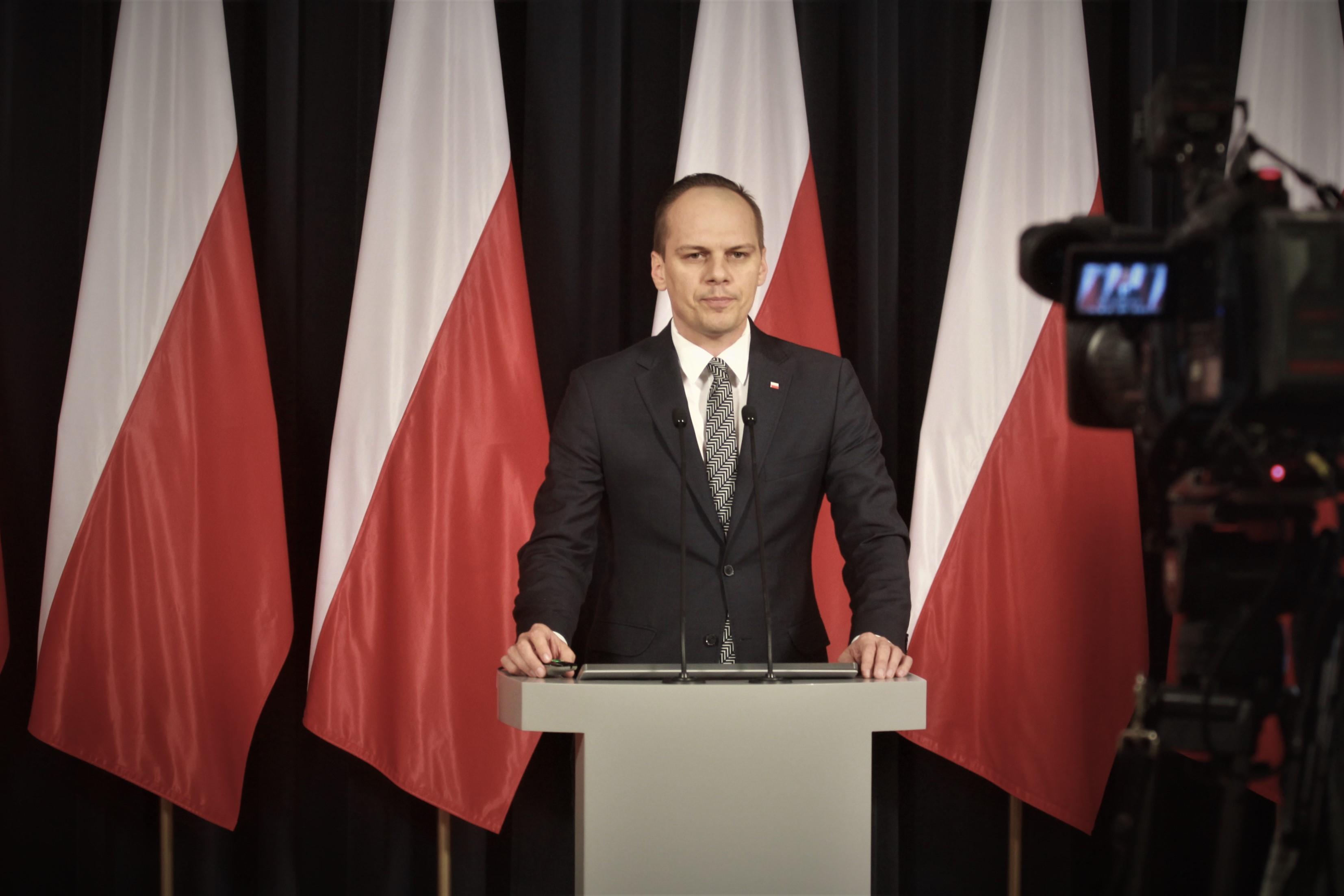 Minister Rafał Weber podczas konferencji. Fot. PTWP/Tomasz Jakubowski