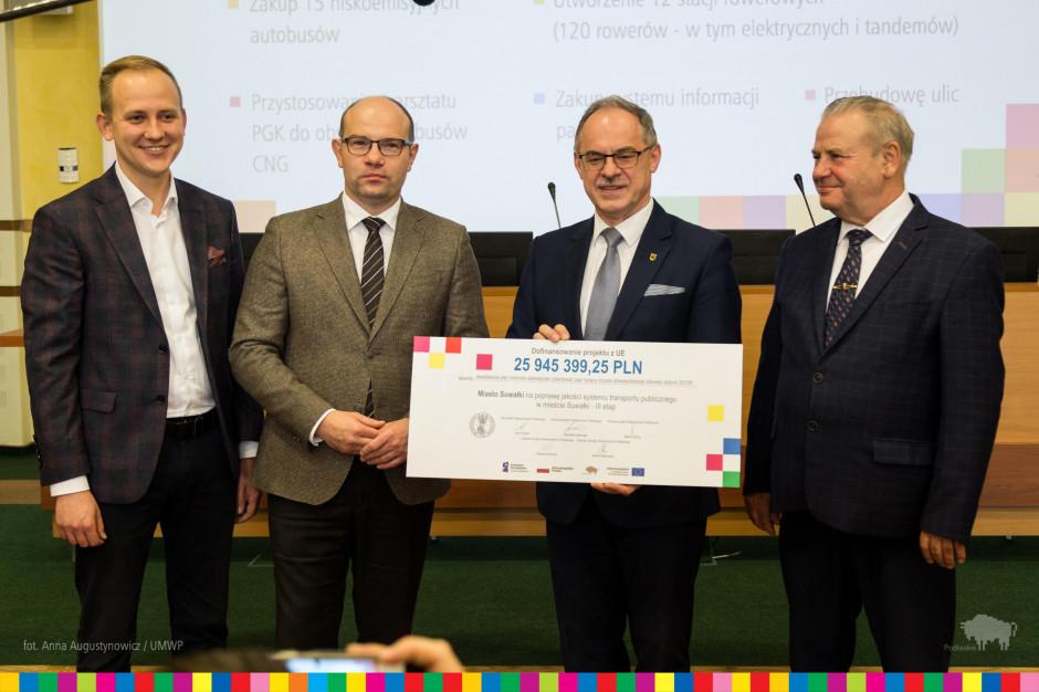 26 milionów złotych na nowoczesny transport w Suwałkach