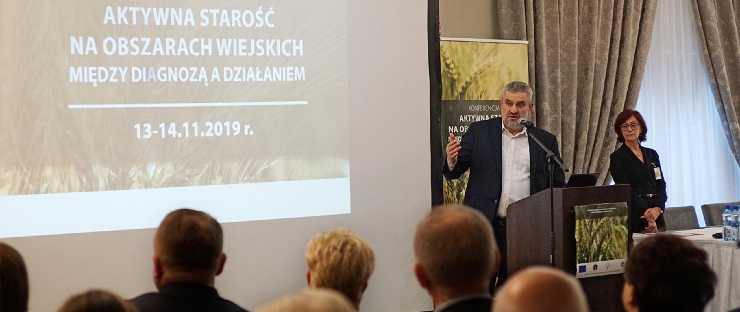 """Konferencja pt. """"Aktywna starość na obszarach wiejskich"""" odbyła się w Ołtarzewie (fot. MRiRW)."""