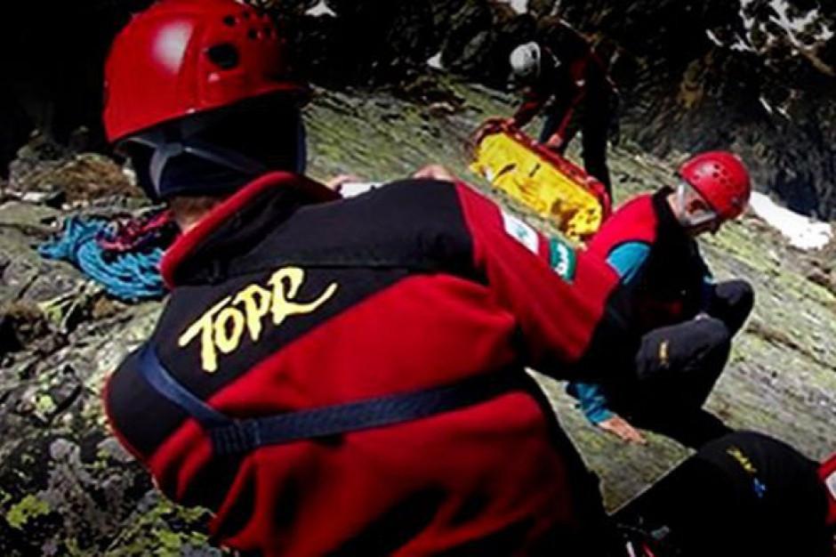 Poważny wypadek w Tatrach, turysta spadł z dużej wysokości
