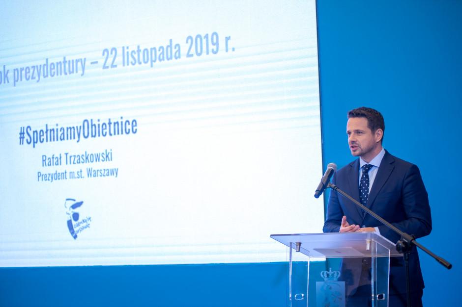 Stołeczny ratusz podsumował pierwszy rok prezydentury Rafała Trzaskowskiego