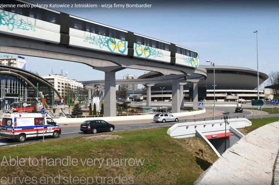Metrem do lotniska Pyrzowice? Zobacz, jak może wyglądać monrail