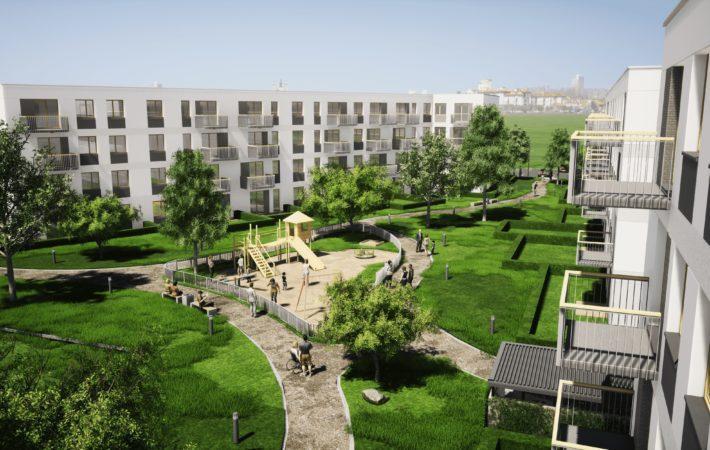 Dokumentację projektową nowego osiedla opracowuje warszawska pracownia MH architekci. Osiedle ma powstać do czerwca 2022 roku. (mieszkanieplus.gov.pl)
