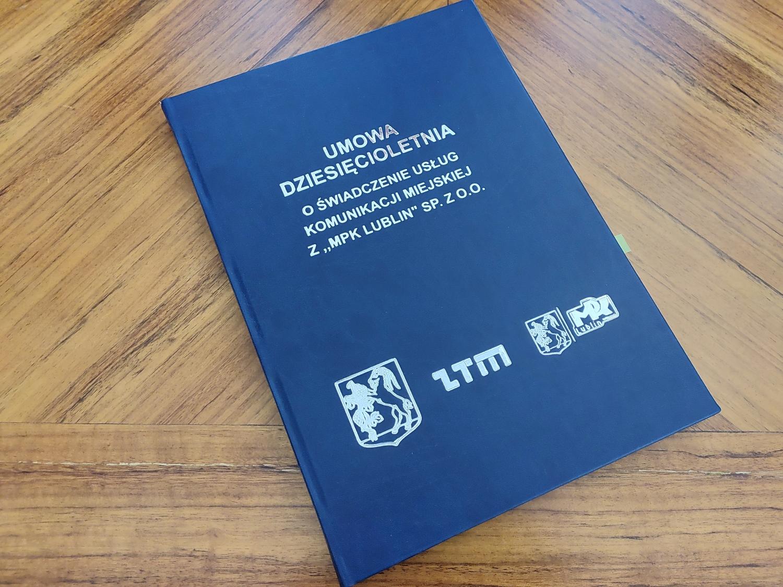 Umowa tzw. dziesięcioletnia między Gminą Lublin a MPK (Źródło: Mat. prasowe)