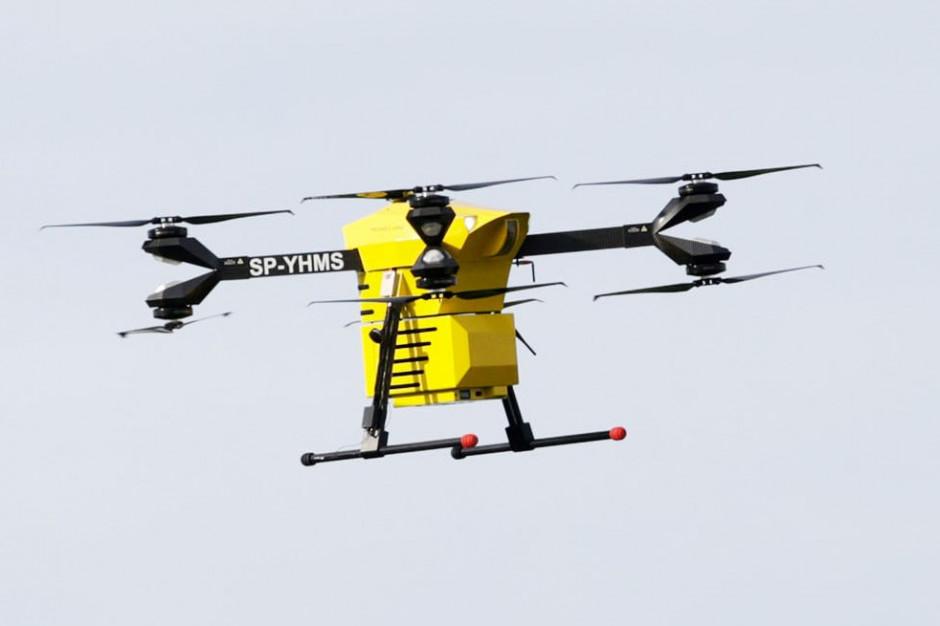 Krew poleci dronem. Pierwsze testy bezzałogowców zakończone sukcesem