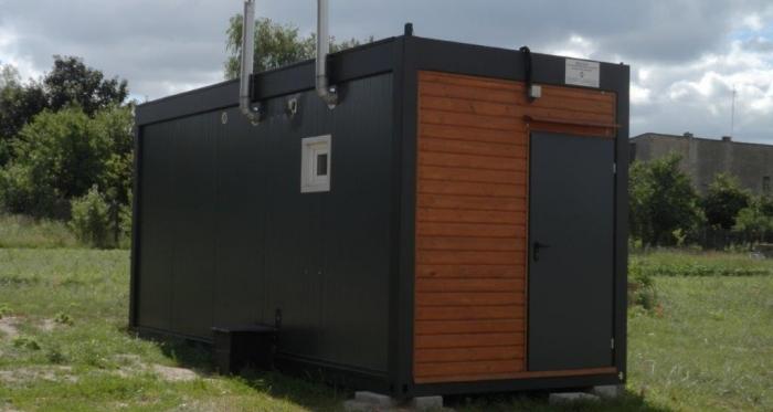 Kontenery socjalne od kilku lat stoją w gminie Rędziny (fot. UMR)