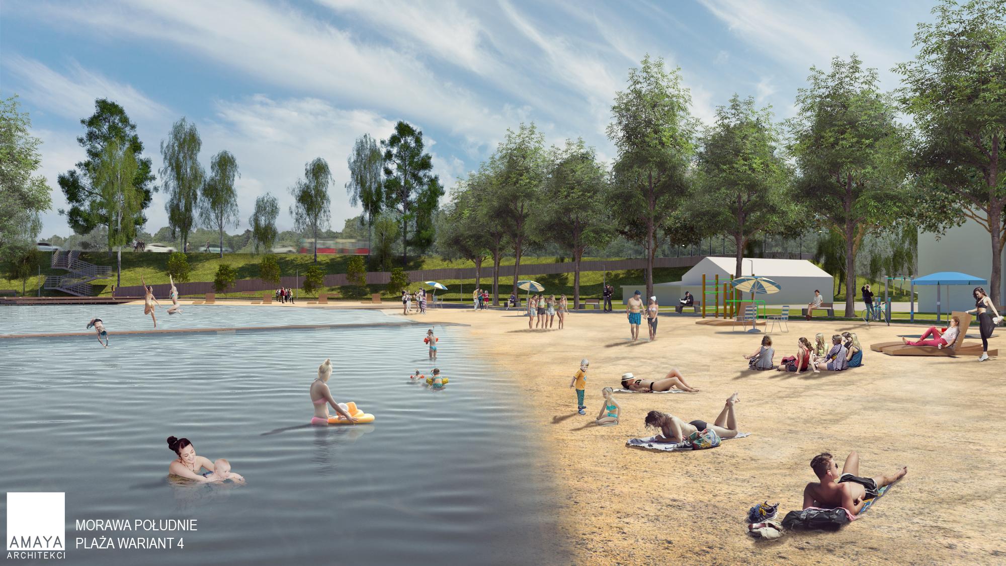 Do dyspozycji mieszkańców będzie piaszczysta plaża (fot. UMK)