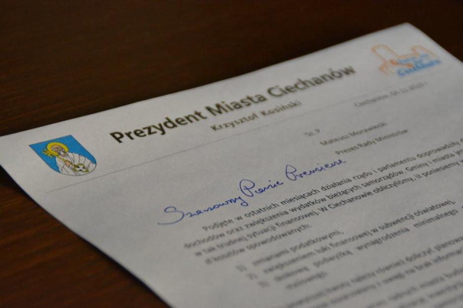 Prezydent Ciechanowa pisze do premiera: Gminy jeszcze nigdy nie były w tak trudnej sytuacji finansowe