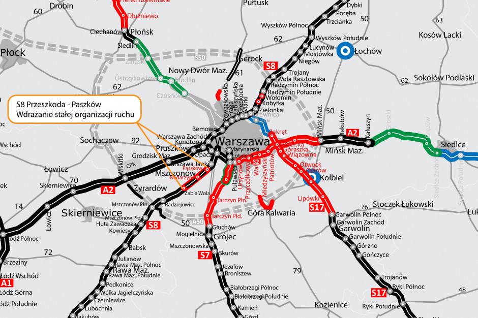 GIDT: ogłosiliśmy przetarg na dwa odcinkowe pomiary prędkości na S8 w Warszawie