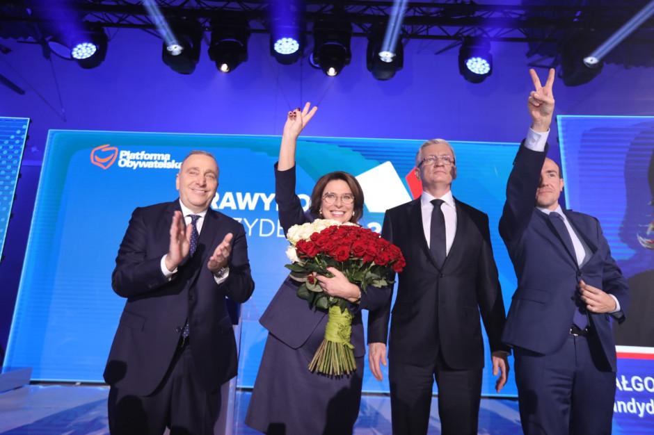 Prawybory: Jaśkowiak przegrał. Małgorzata Kidawa-Błońska kandydatem na prezydenta