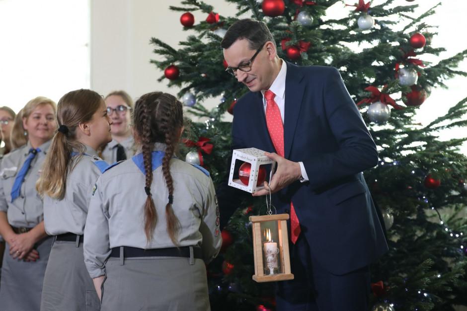 Premier przyjął Betlejemskie Światło Pokoju