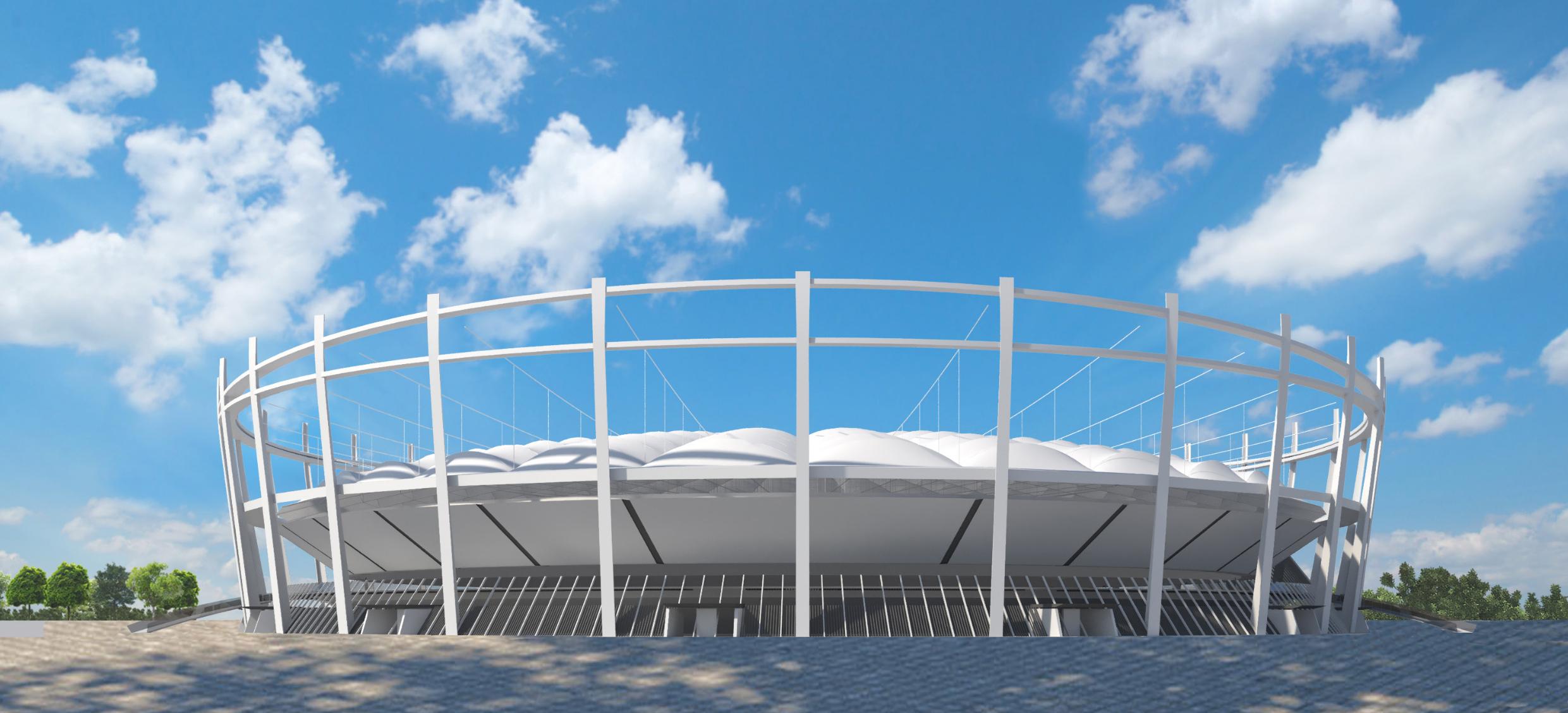 Wizualizacja nowego stadionu żużlowego (Fot. UM Lublin)