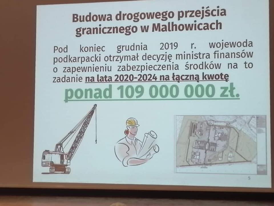 Slajd z prezentacji podczas spotkania opłatkowego PiS w Przemyślu (Fot. Piotr Pilch/Facebook)