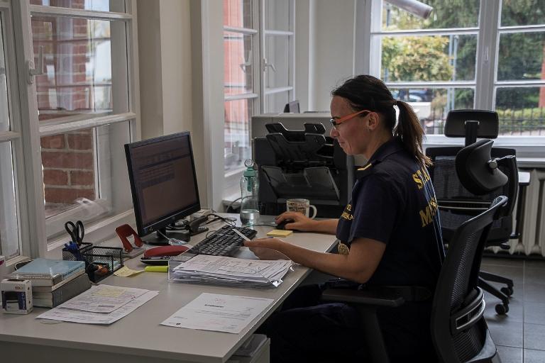 Punkt Przyjmowania Interwencji w nowej siedzibie Straży Miejskiej we Wrocławiu (fot. UMW)