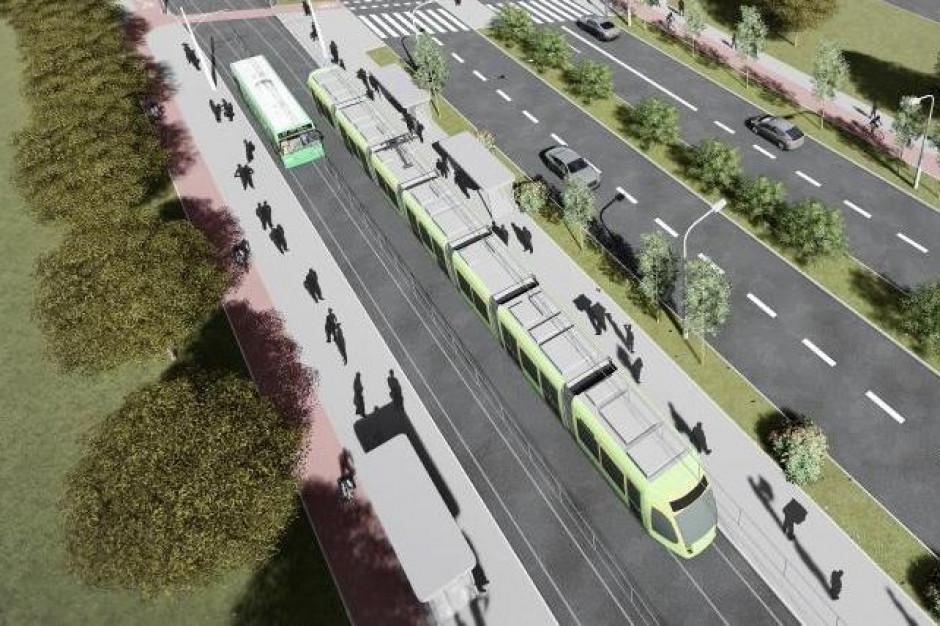 Trasa tramwajowa na Naramowice zostanie oddana do użytku w 2021 r. (fot.poznan.pl)
