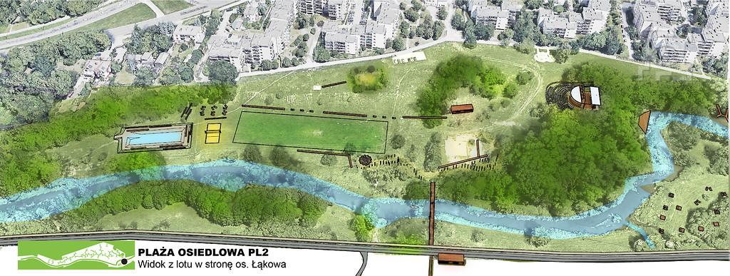 Główną osią projektu jest rzeka Bystrzyca (fot. UML)