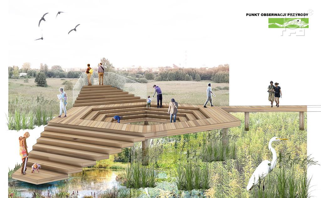 W projekcie znalazł się m.in. punkt obserwacji przyrody (fot. UML)