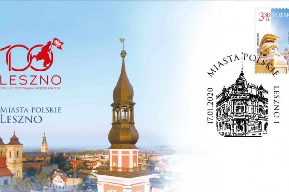 Leszno na znaczkach pocztowych w 100. rocznicę powrotu do granic Polski