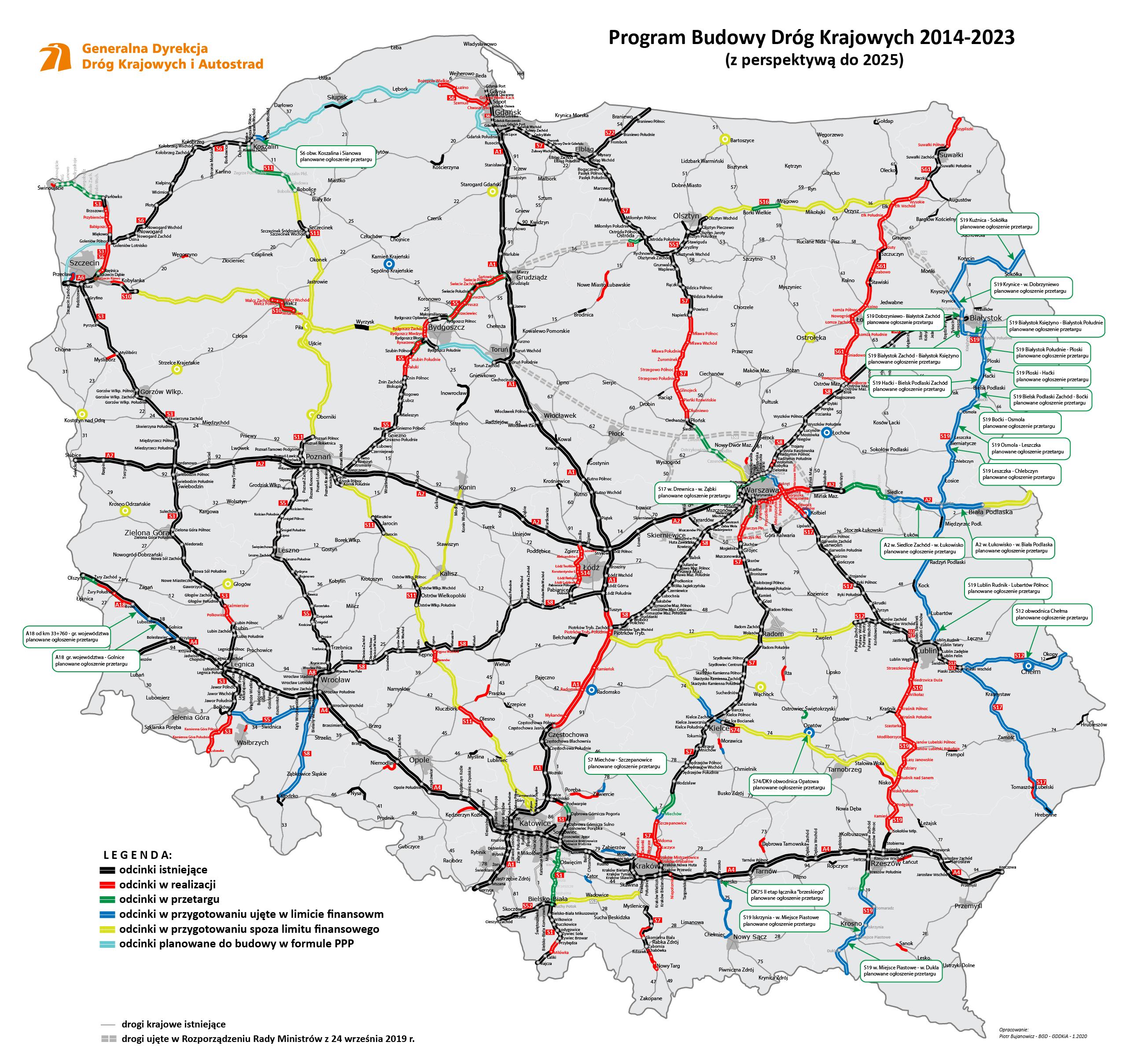 Program budowy dróg (fot. gddkia.gov.pl)