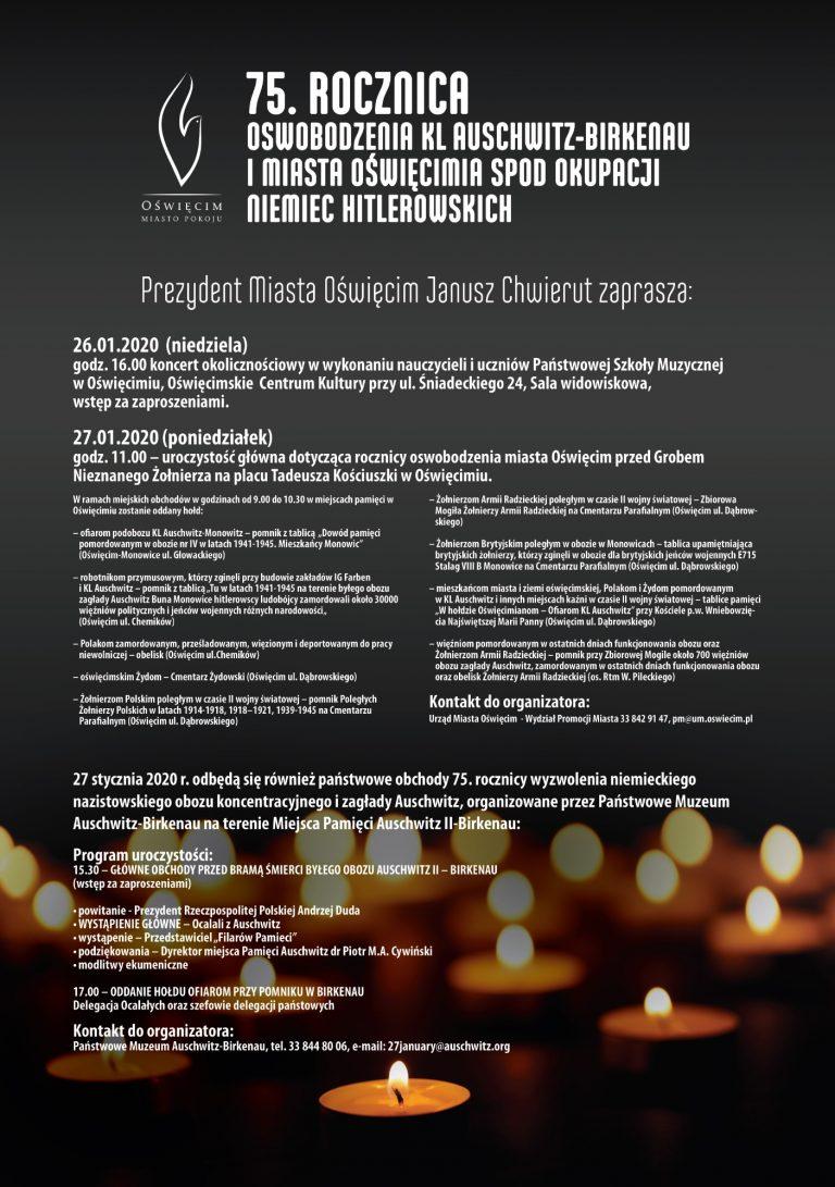 Obchody 75. rocznicy wyzwolenia niemieckiego obozu Auschwitz (fot. oswiecim.pl)