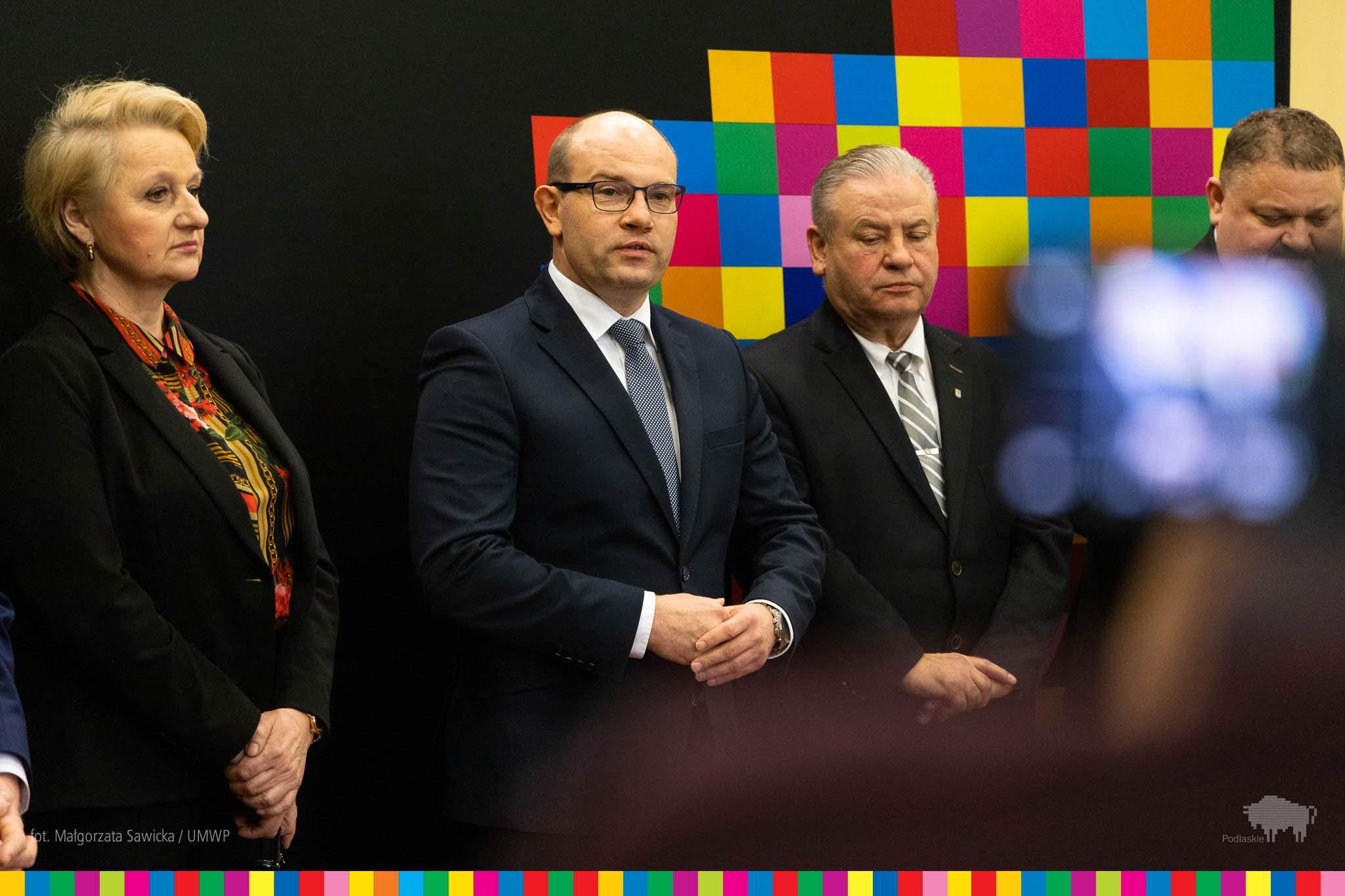Gratuluję, wnioski dobrze złożone - powiedział do zebranych samorządowców marszałek województwa podlaskiego Artur Kosicki. (fot.wrotapodlasia.pl/Małgorzata Sawicka)