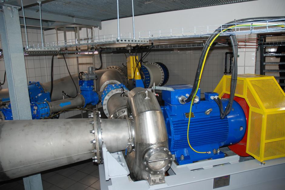 Turbina w szczecińskim wodociągu produkuje energię