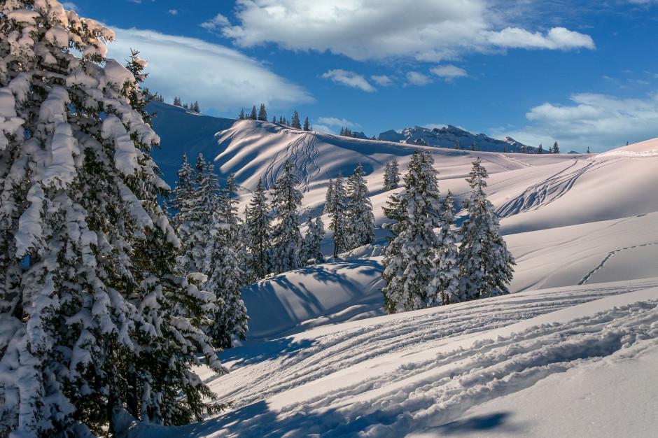 Intensywne opady śniegu w górach