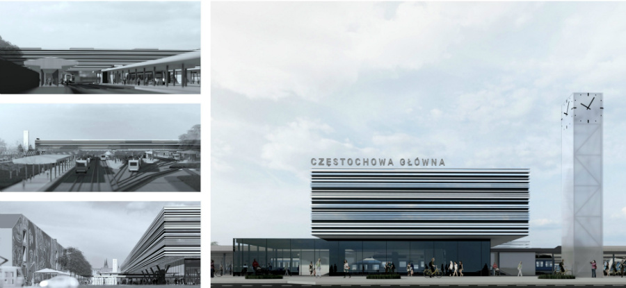 Zwycięska koncepcja dworca w Częstochowie(fot. UM Częstochowa)