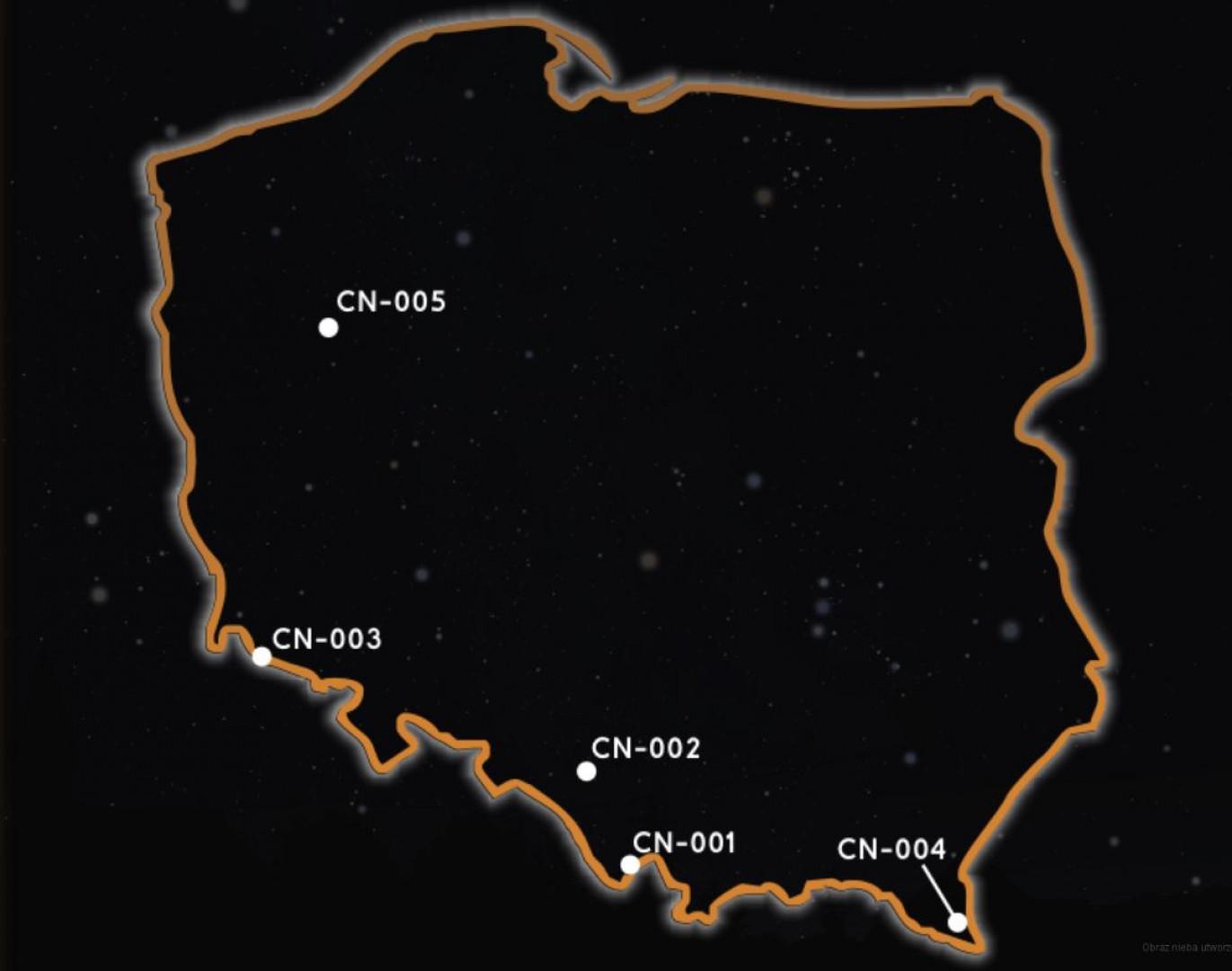 W Polsce istnieje lub tworzy się 5 stref ciemnego nieba (fot.ciemneniebo.pl)
