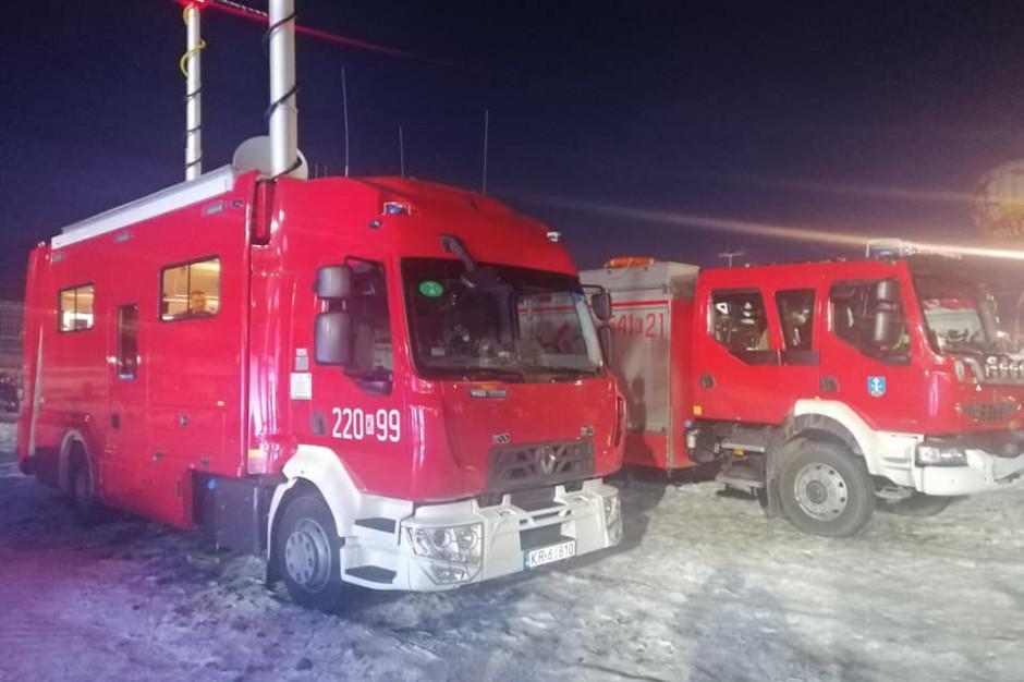 Małopolskie: 550 interwencji strażaków w związku z silnym wiatrem