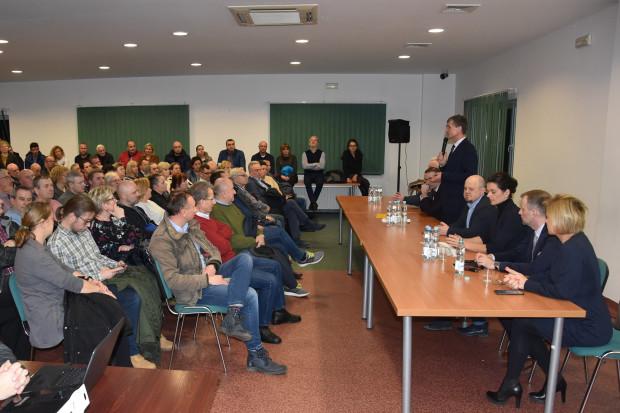 Spotkanie władz Mikołowa z mieszkańcami sołectwa Mokre (Fot. UM Mikołów)
