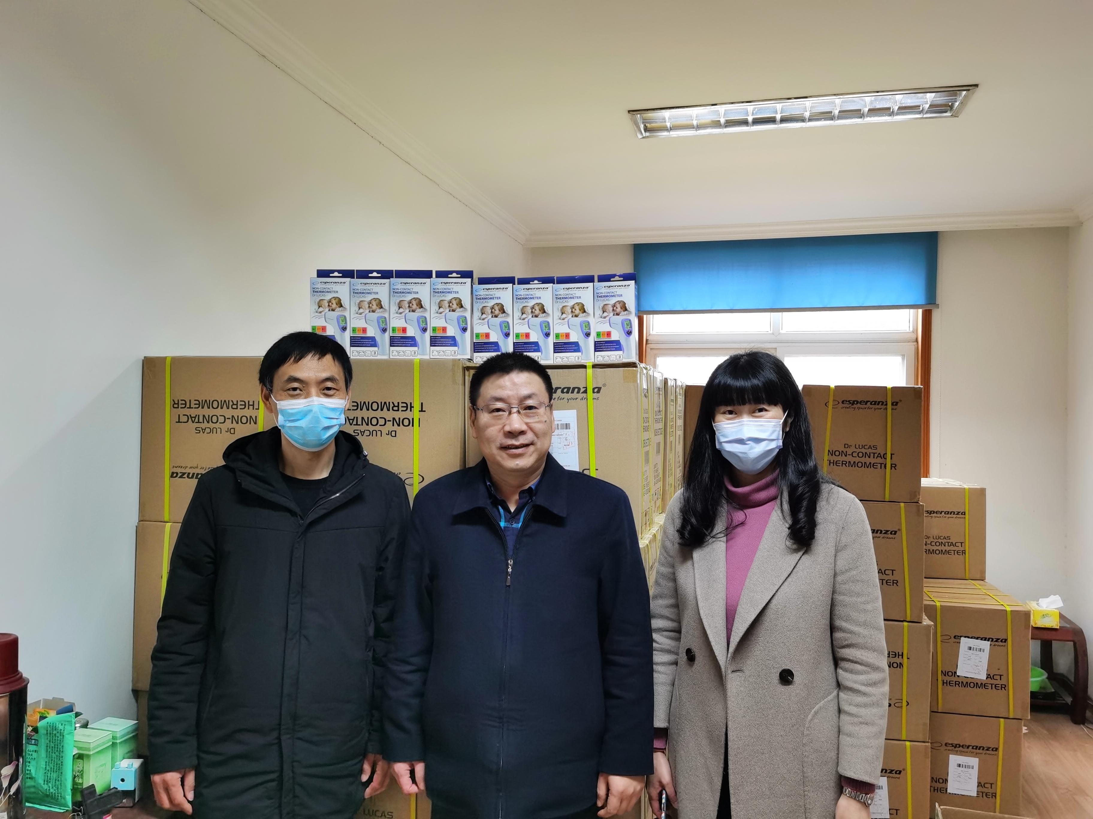 Przedstawiciele miasta Yoyao w Chinach. W środku Pan Yinhao, burmistrz miasta(fot. UM Kielce)