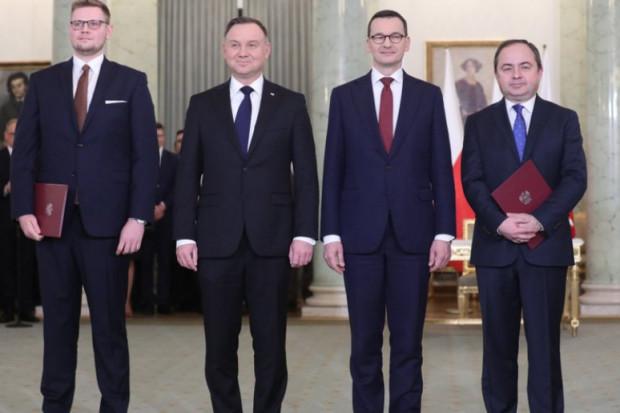 Od lewej Michał Woś, Andrej Duda, Mateusz Morawiecki oraz Konrad Szymański. Fot. mat. pras.