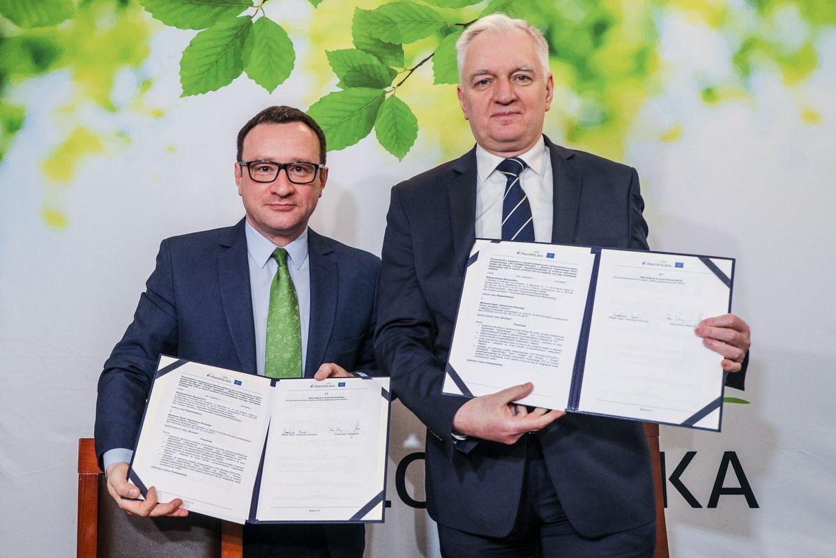 Tomasz Urynowicz i Jarosław Gowin (fot. malopolska.pl)