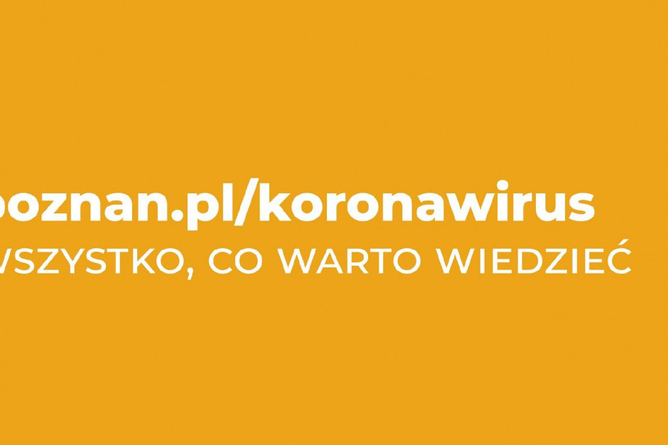 Poznań uruchomił specjalny portal informacyjny w związku z koronawirusem