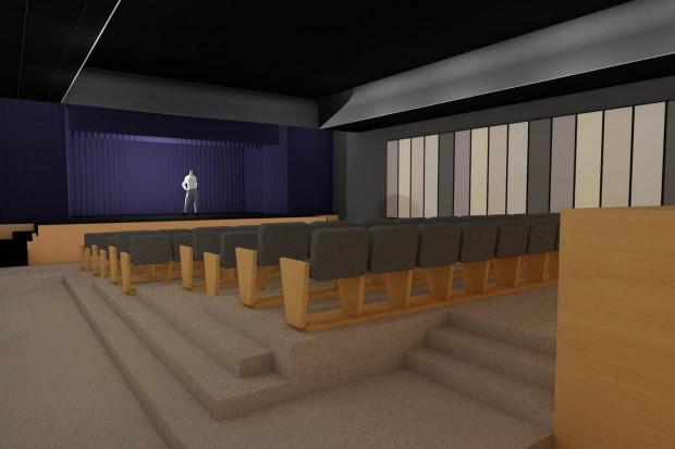 Wizualizacja sali widowiskowej (źródło:chybie.pl)