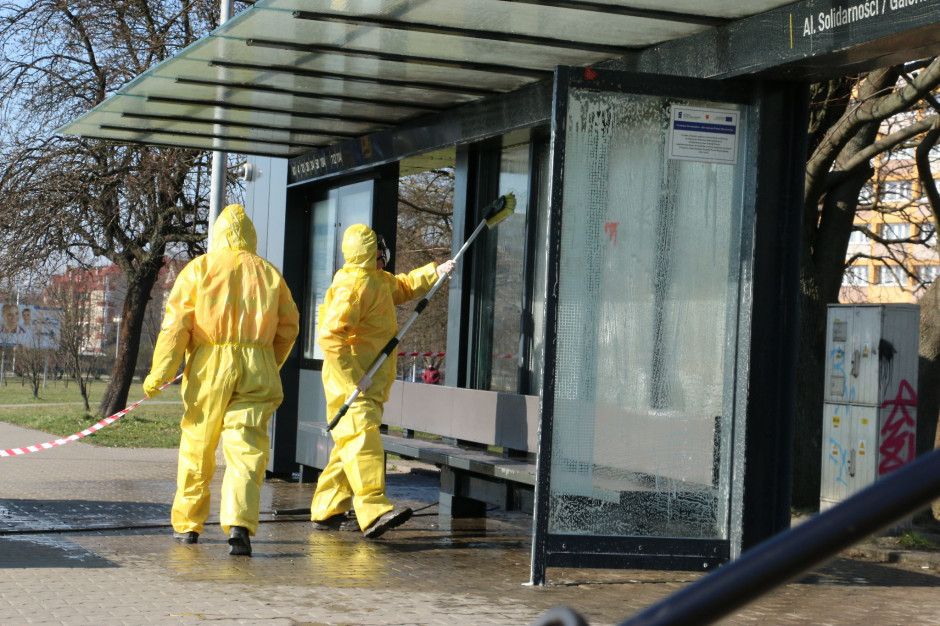 Kielce dezynfekują przystanki autobusowe